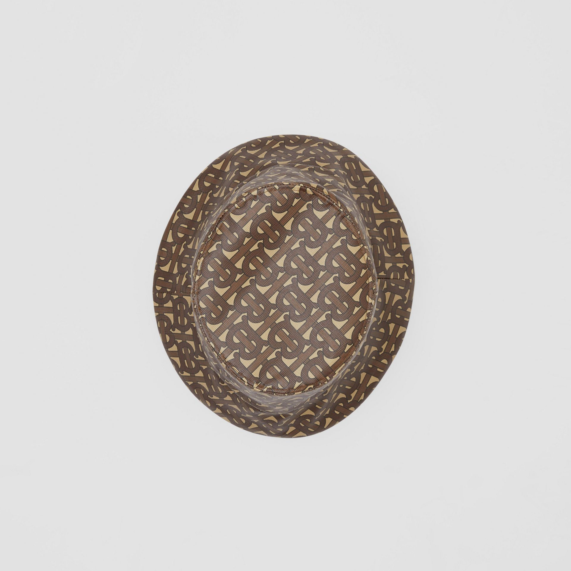 Monogram Print Bucket Hat in Bridle Brown | Burberry Canada - gallery image 0