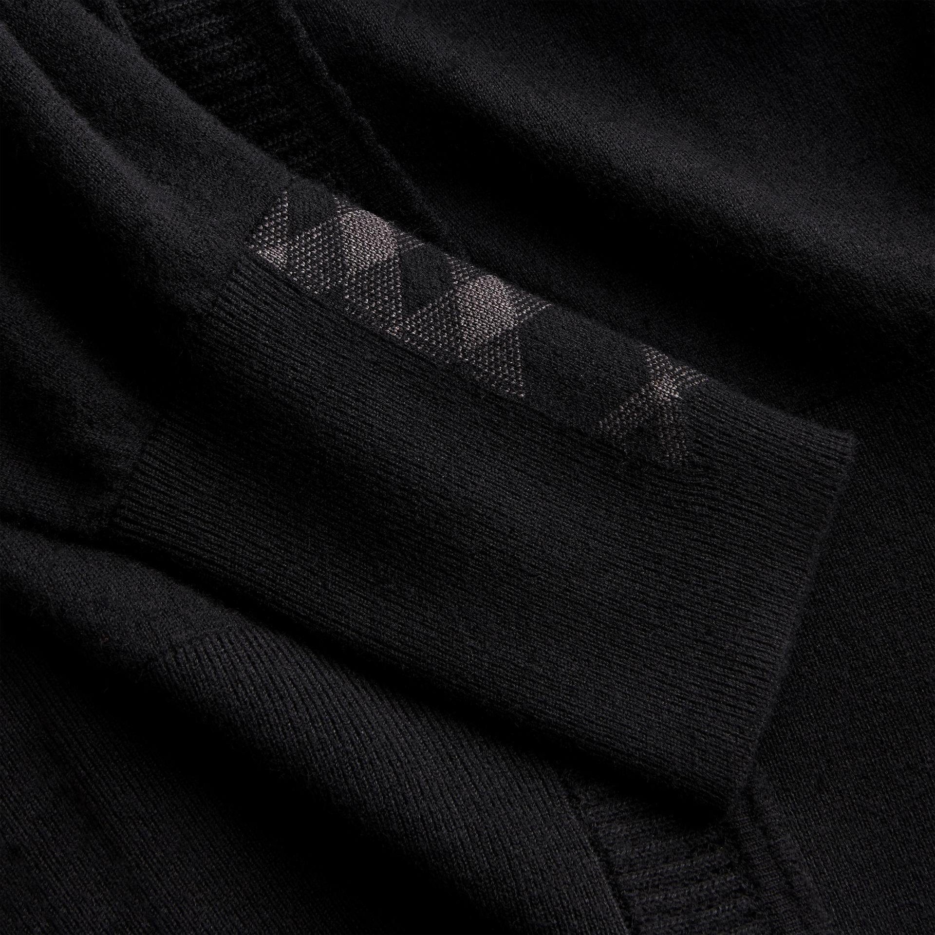 Open-knit Detail Cashmere Cardigan in Black - Women | Burberry - gallery image 2