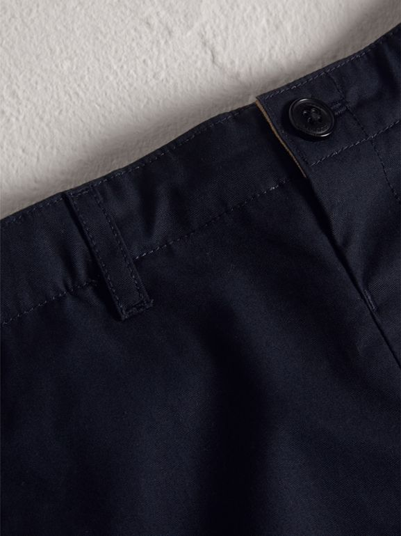 Cotton Chino Shorts in Ink - Boy | Burberry - cell image 1
