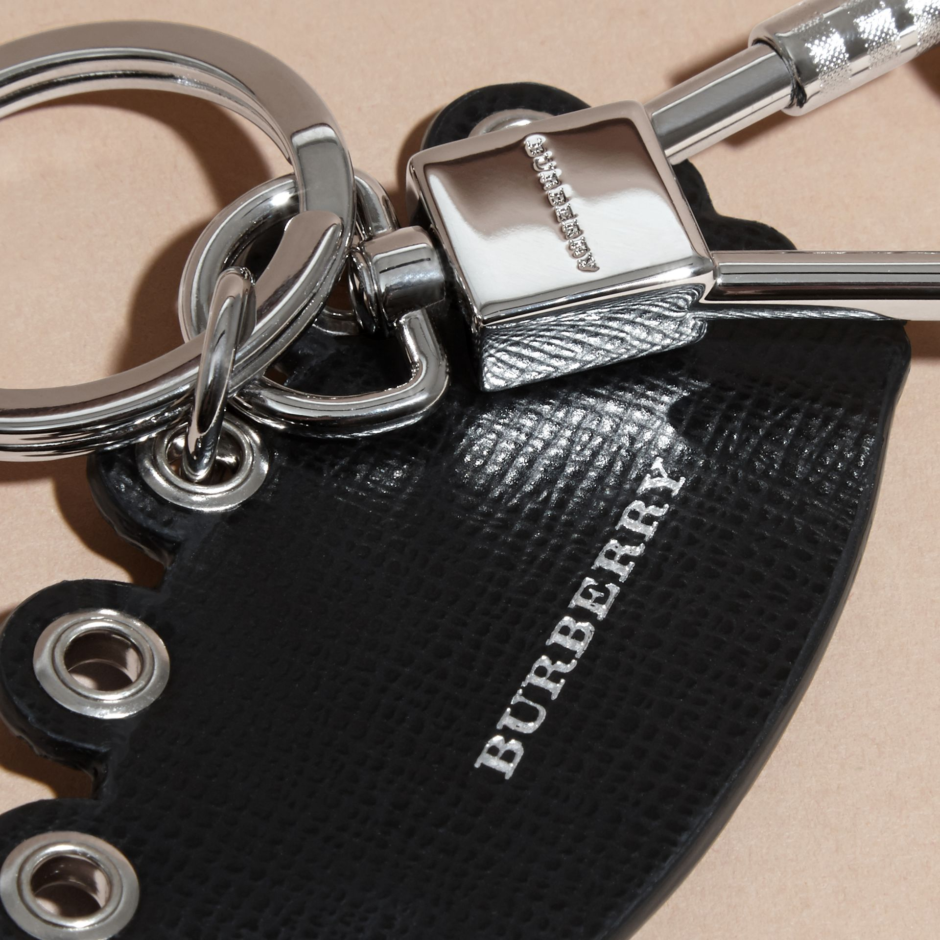 Crown Key Ring in Leather - gallery image 2