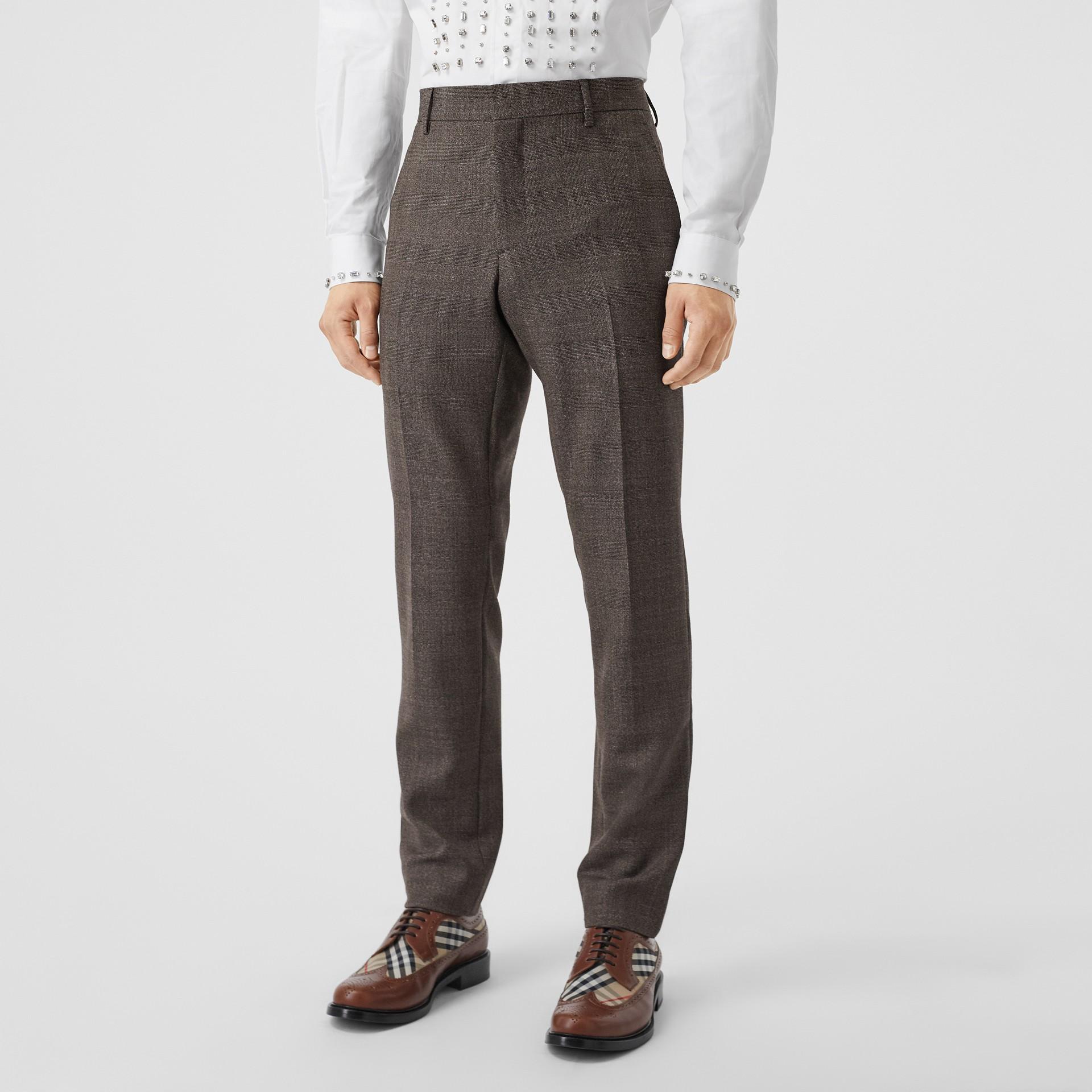Slim Fit Wool Suit in Dark Brown - Men | Burberry - gallery image 5