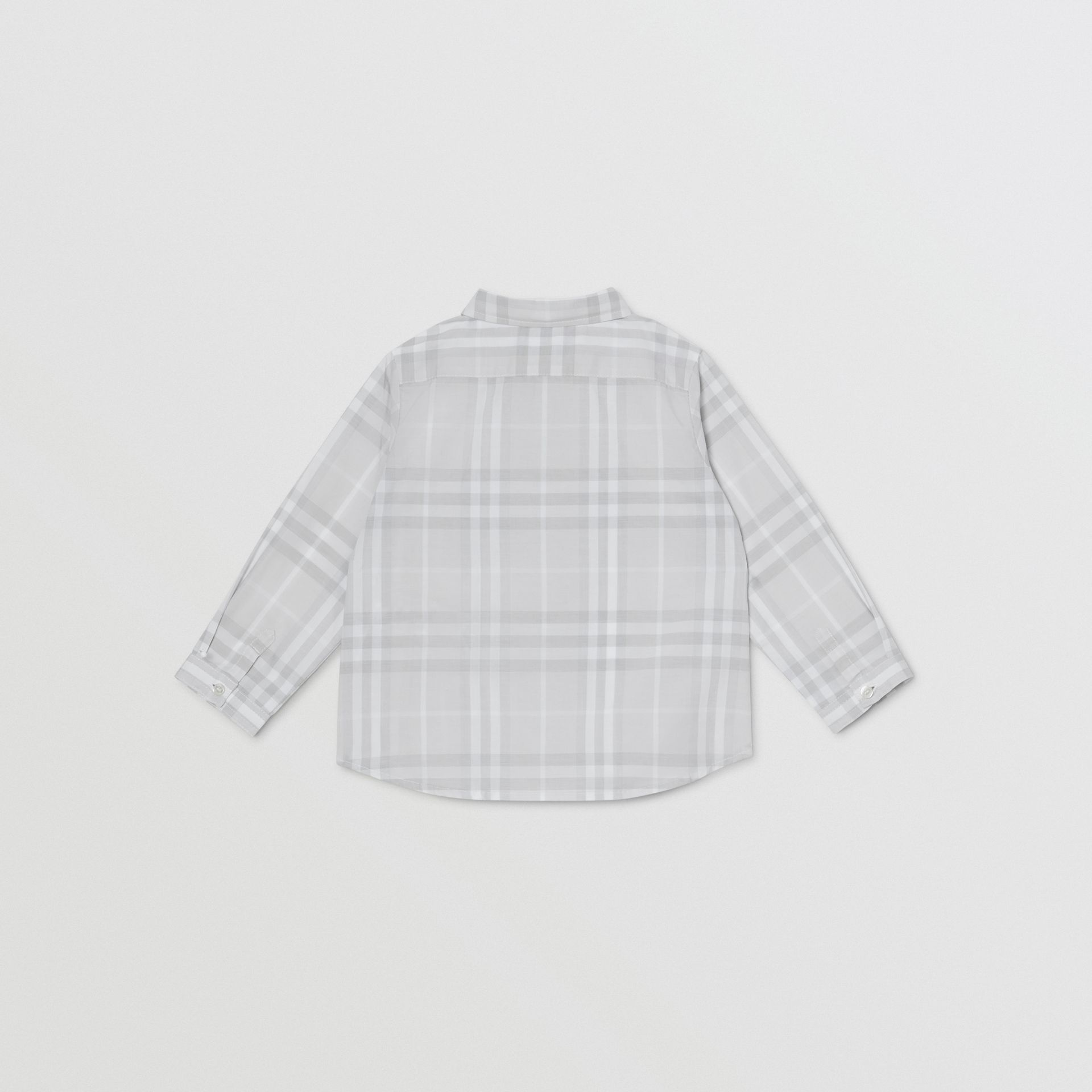 Vintage Check Cotton Shirt in Pale Grey - Children | Burberry - gallery image 3