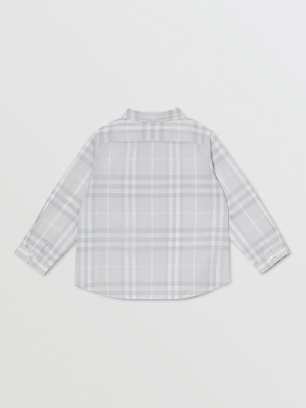Vintage Check Cotton Shirt in Pale Grey - Children | Burberry - cell image 3