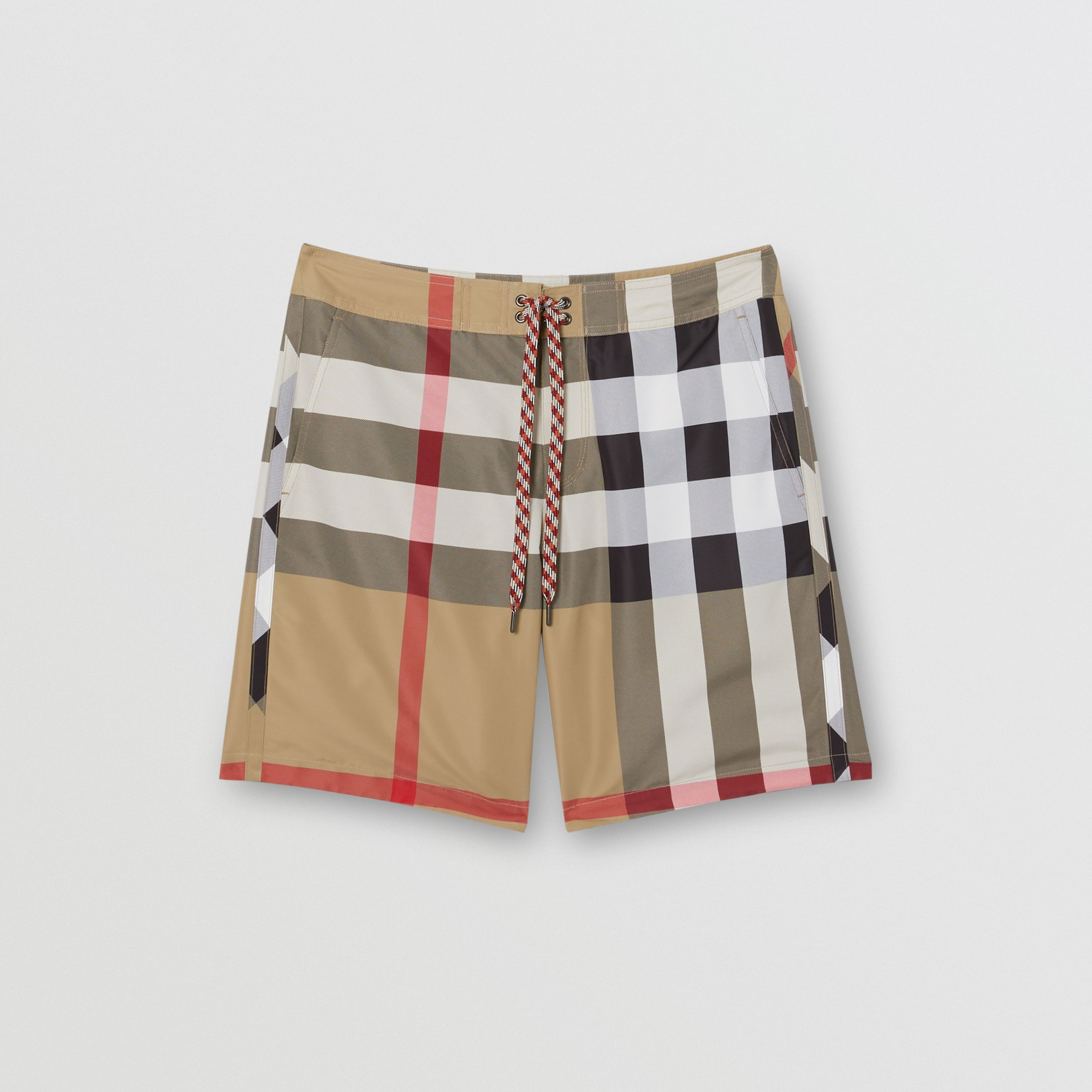 Check Swim Shorts in Archive Beige - Men | Burberry - 3