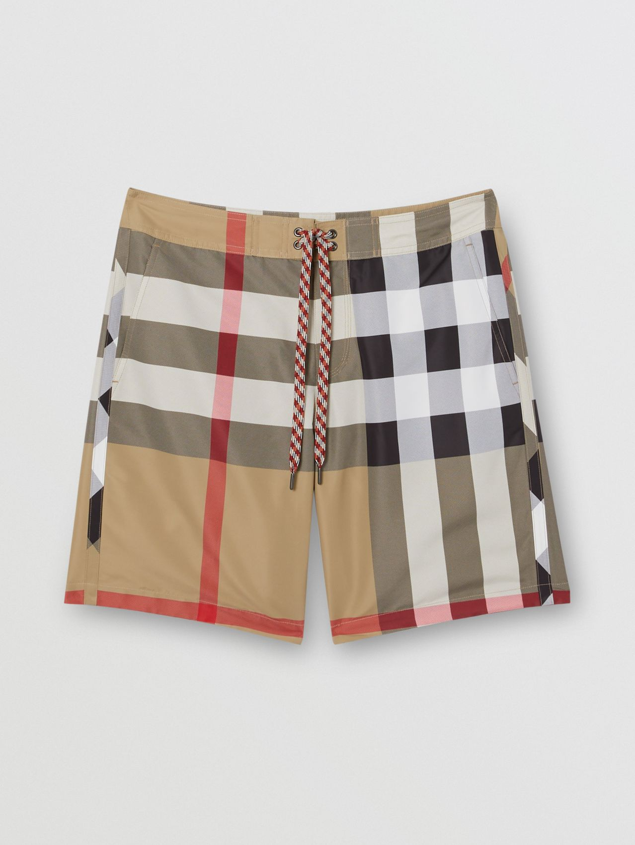 Check Swim Shorts in Archive Beige
