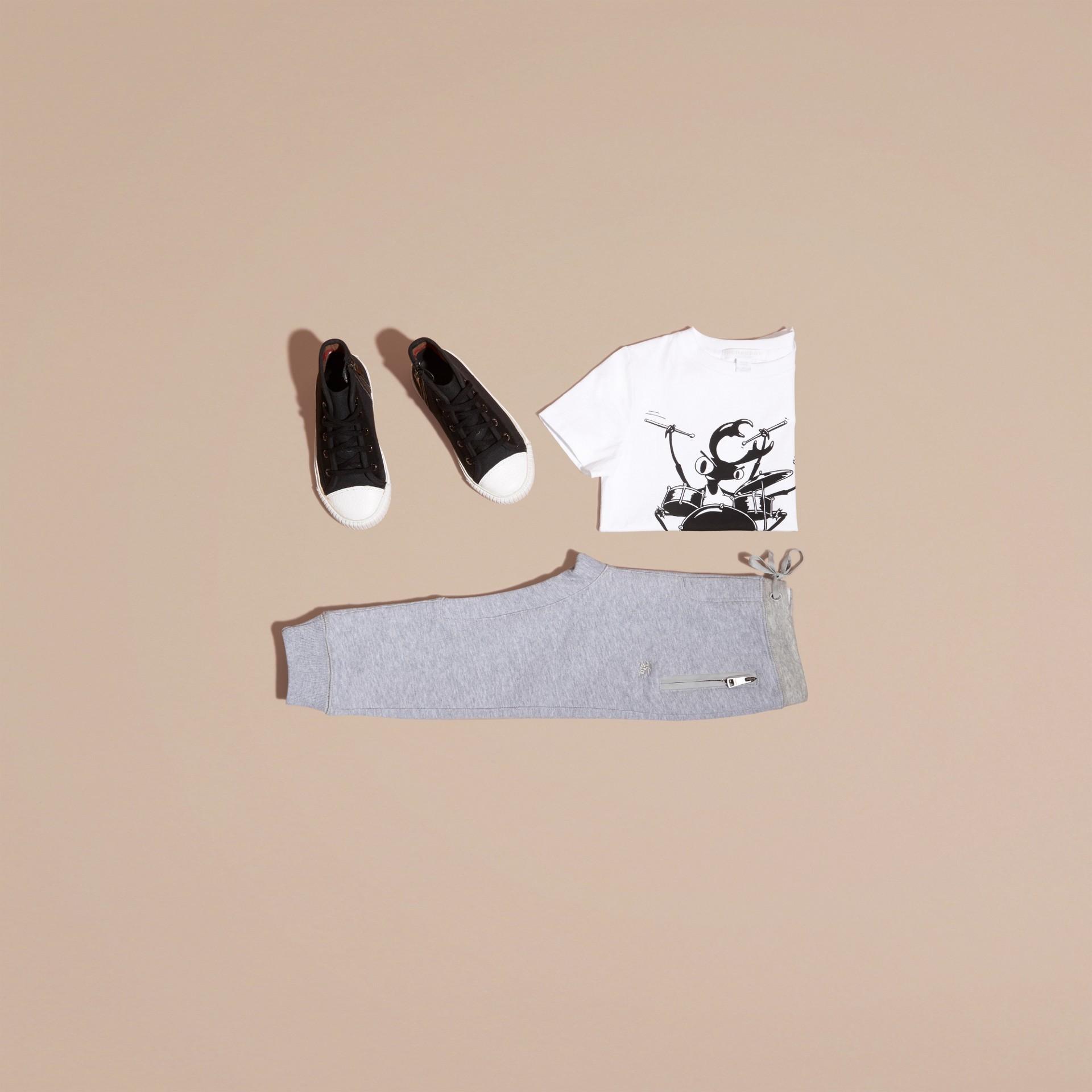 Camaïeu de gris moyens Pantalon de survêtement en coton Camaïeu  Gris Moyens - photo de la galerie 5