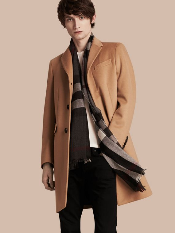 Wool Cashmere Tailored Coat Camel