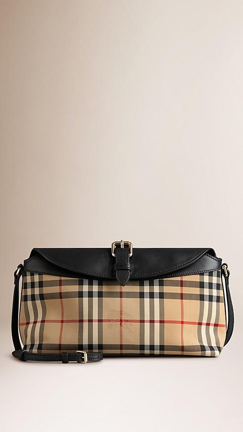 Honey/black Small Horseferry Check Clutch Bag - Image 1