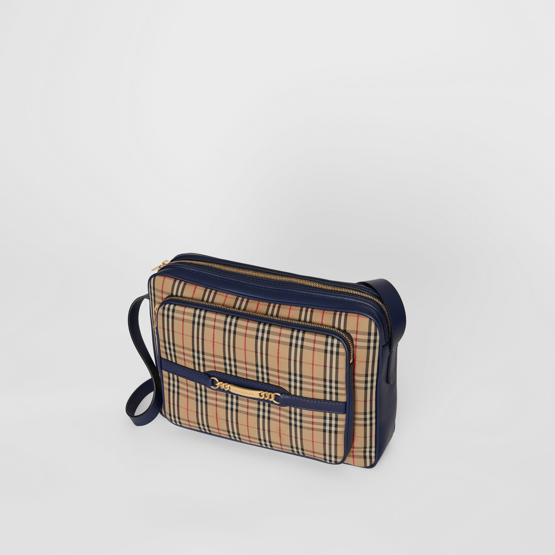 The Large 1983 Check Link Camera Bag in Ink Blue - Men | Burberry - gallery image 3