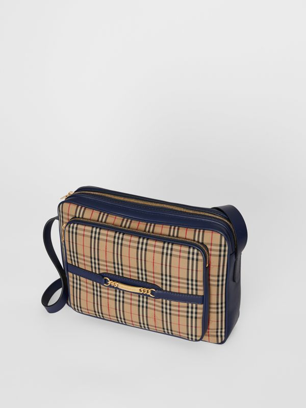 The Large 1983 Check Link Camera Bag in Ink Blue - Men | Burberry United Kingdom - cell image 3