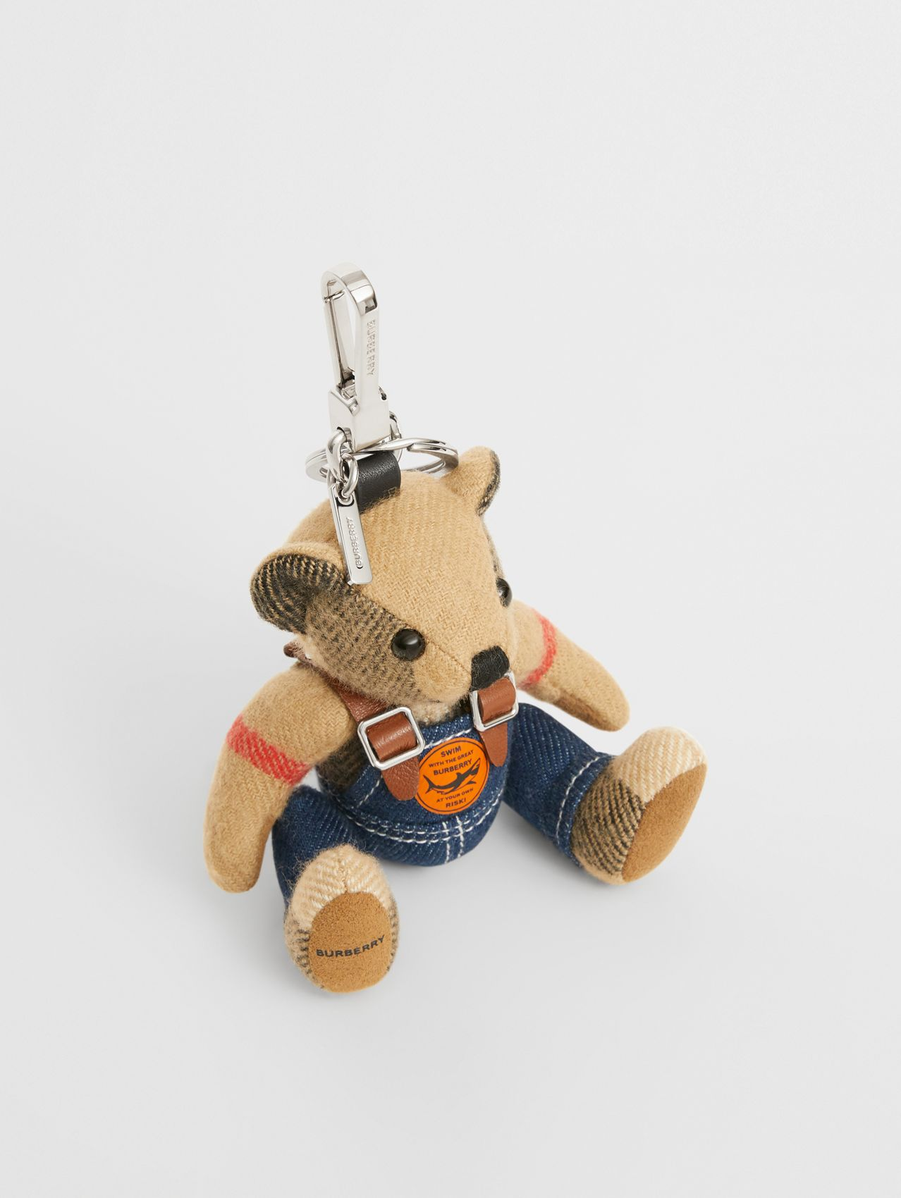 Thomas Bear Charm in Denim in Archive Beige
