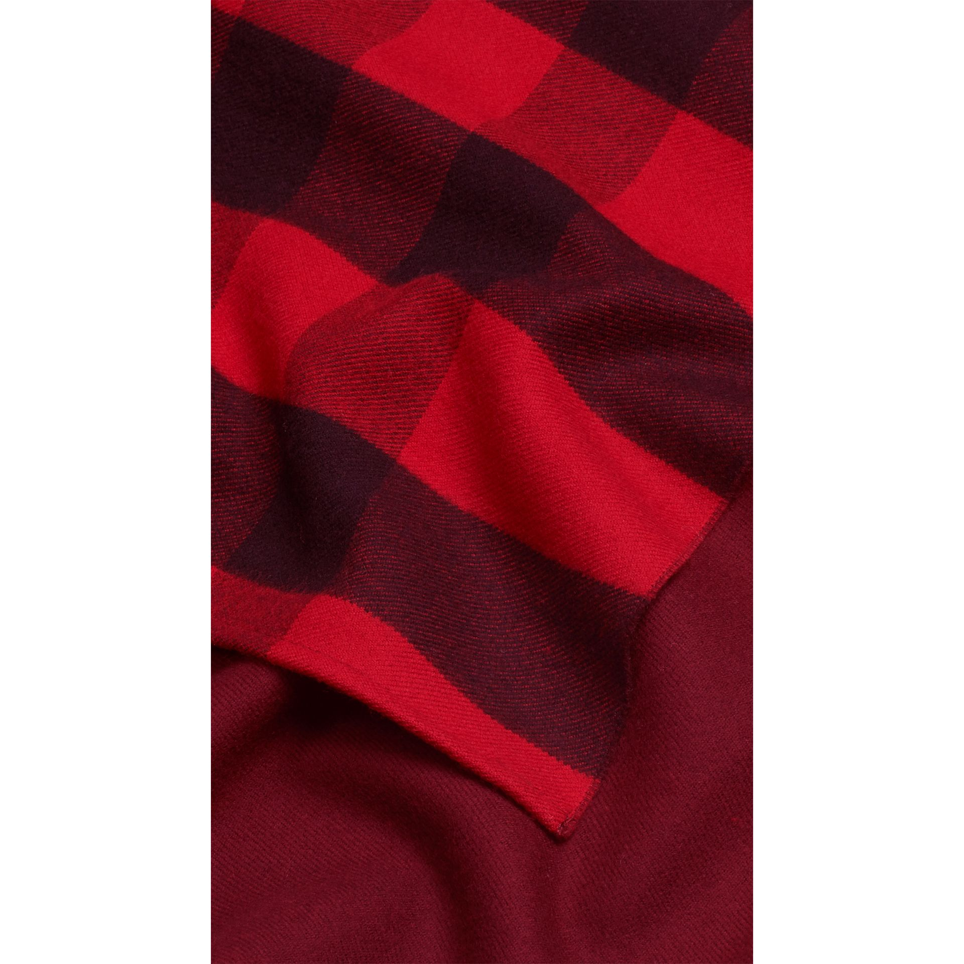 Check Wool Cape in Parade Red - gallery image 2