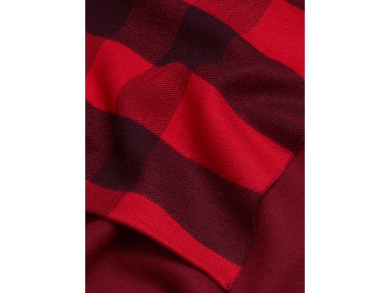 Check Wool Cape in Parade Red - cell image 1