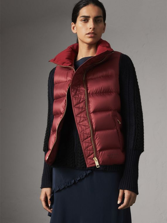 Down-filled Gilet in Military Red