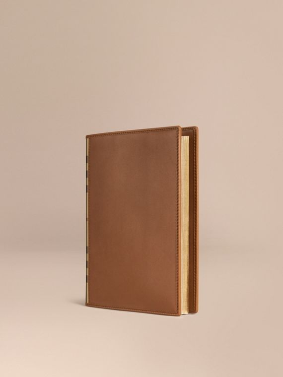 Check Detail Grainy Leather A5 Notebook