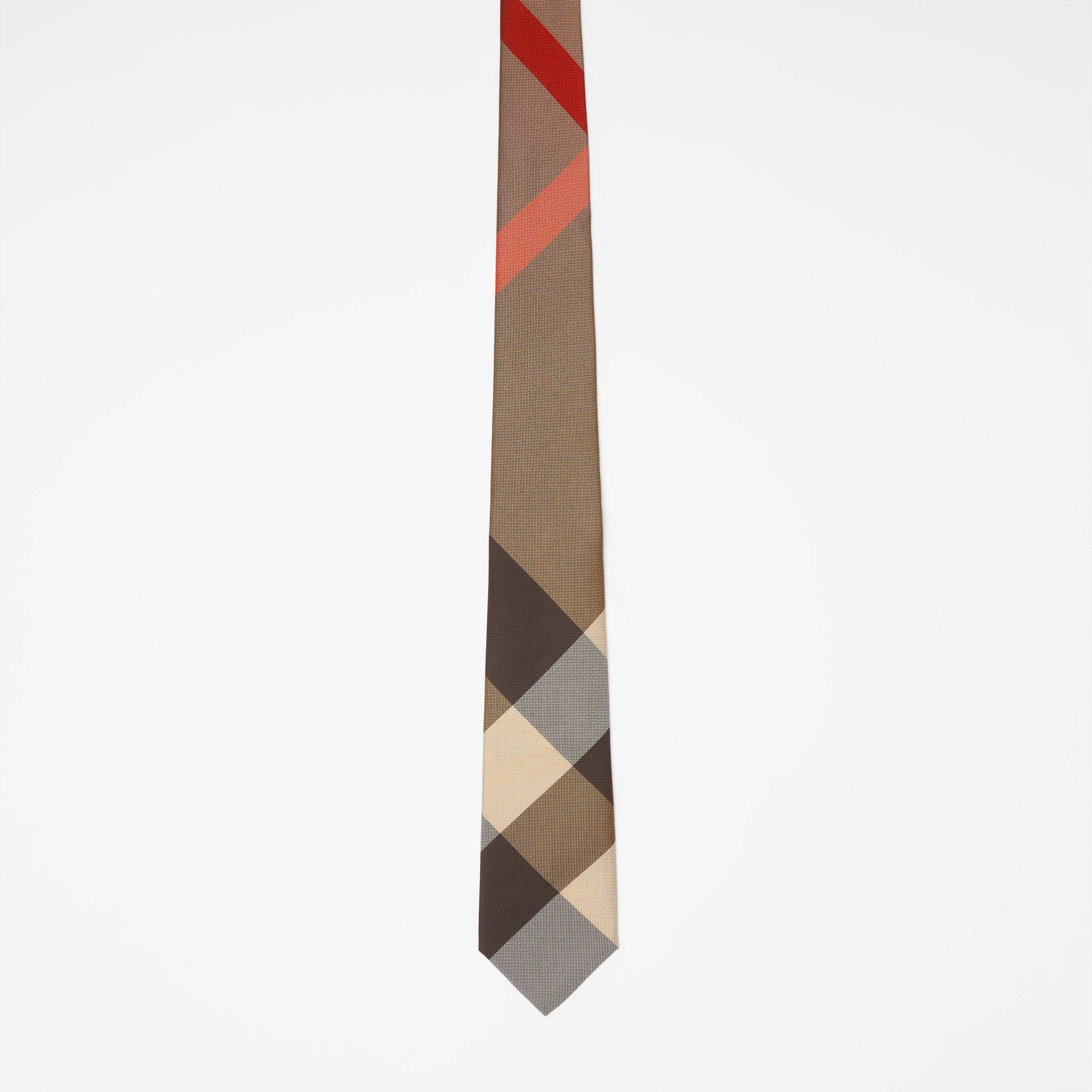 Modern Cut Oversized Check Silk Tie in Archive Beige - Men | Burberry - gallery image 3