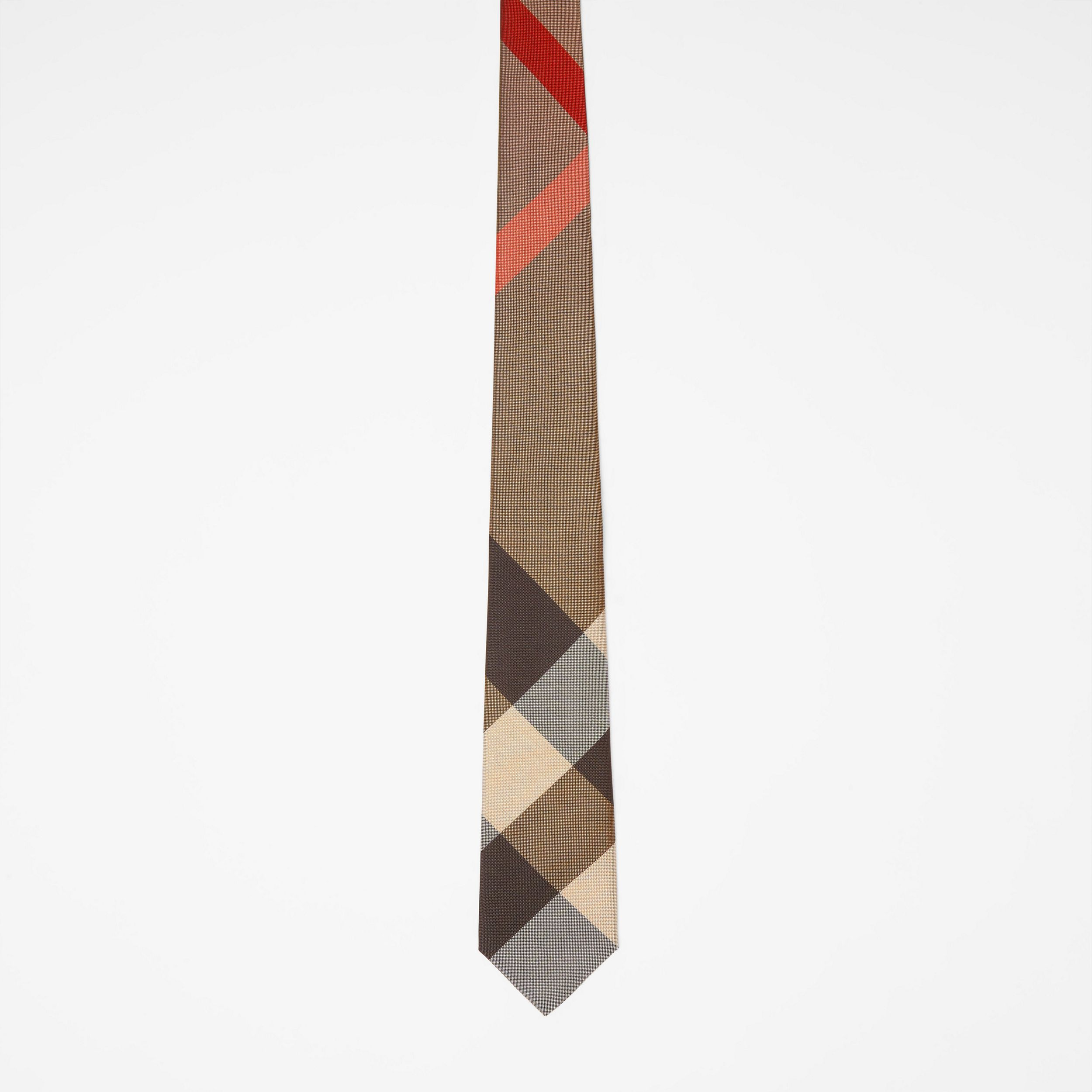 Modern Cut Oversized Check Silk Tie in Archive Beige - Men | Burberry - 4