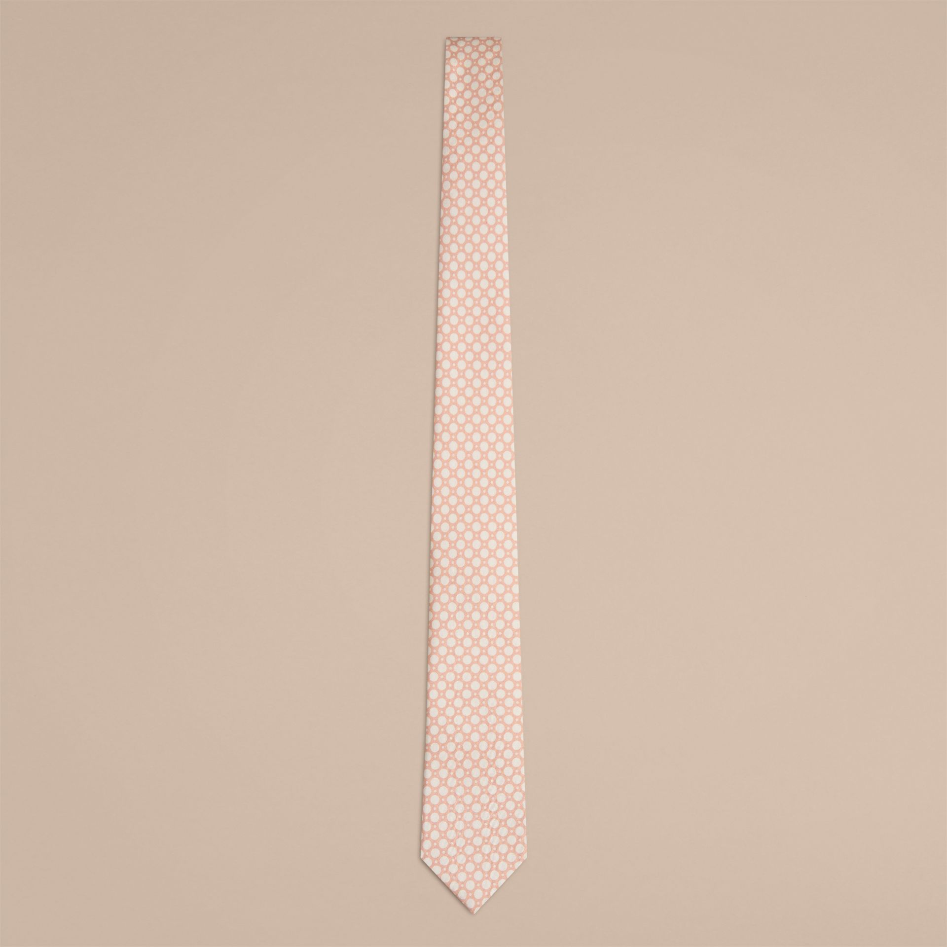 Chalk pink Slim Cut Polka Dot Silk Tie Chalk Pink - gallery image 1