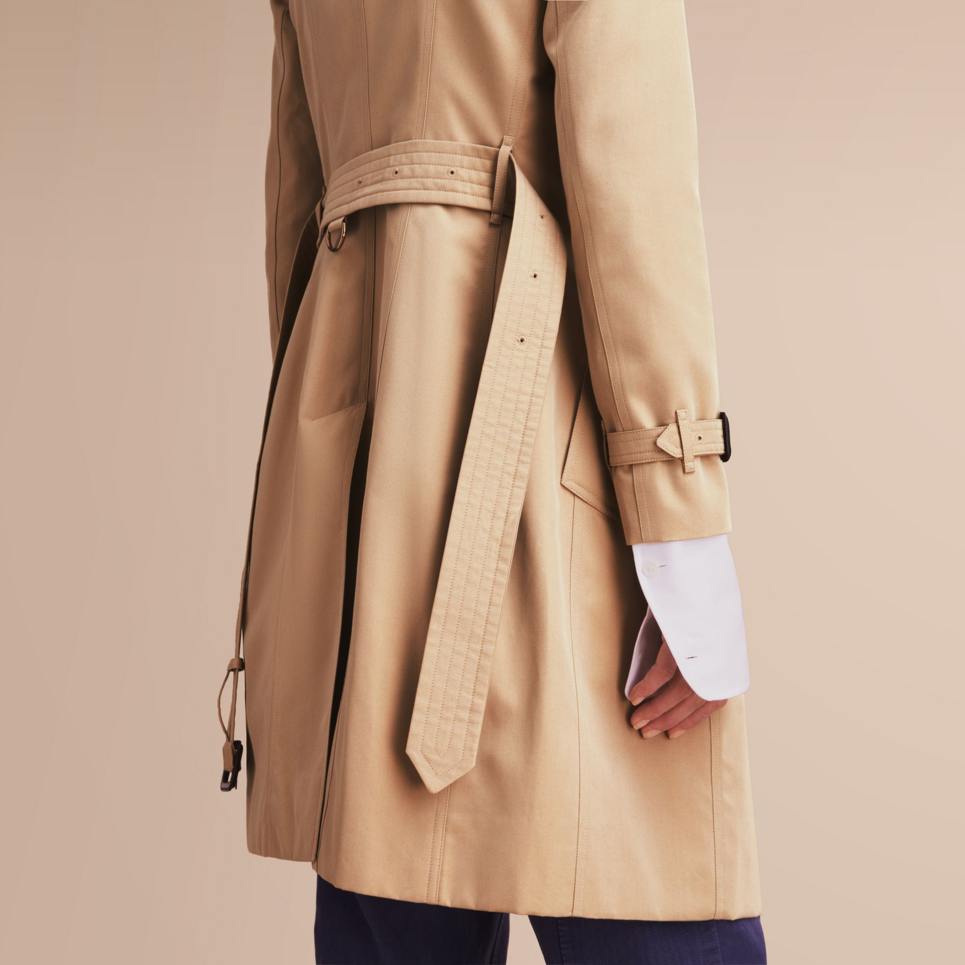 The Chelsea – Long Heritage Trench Coat in Honey - gallery image 6