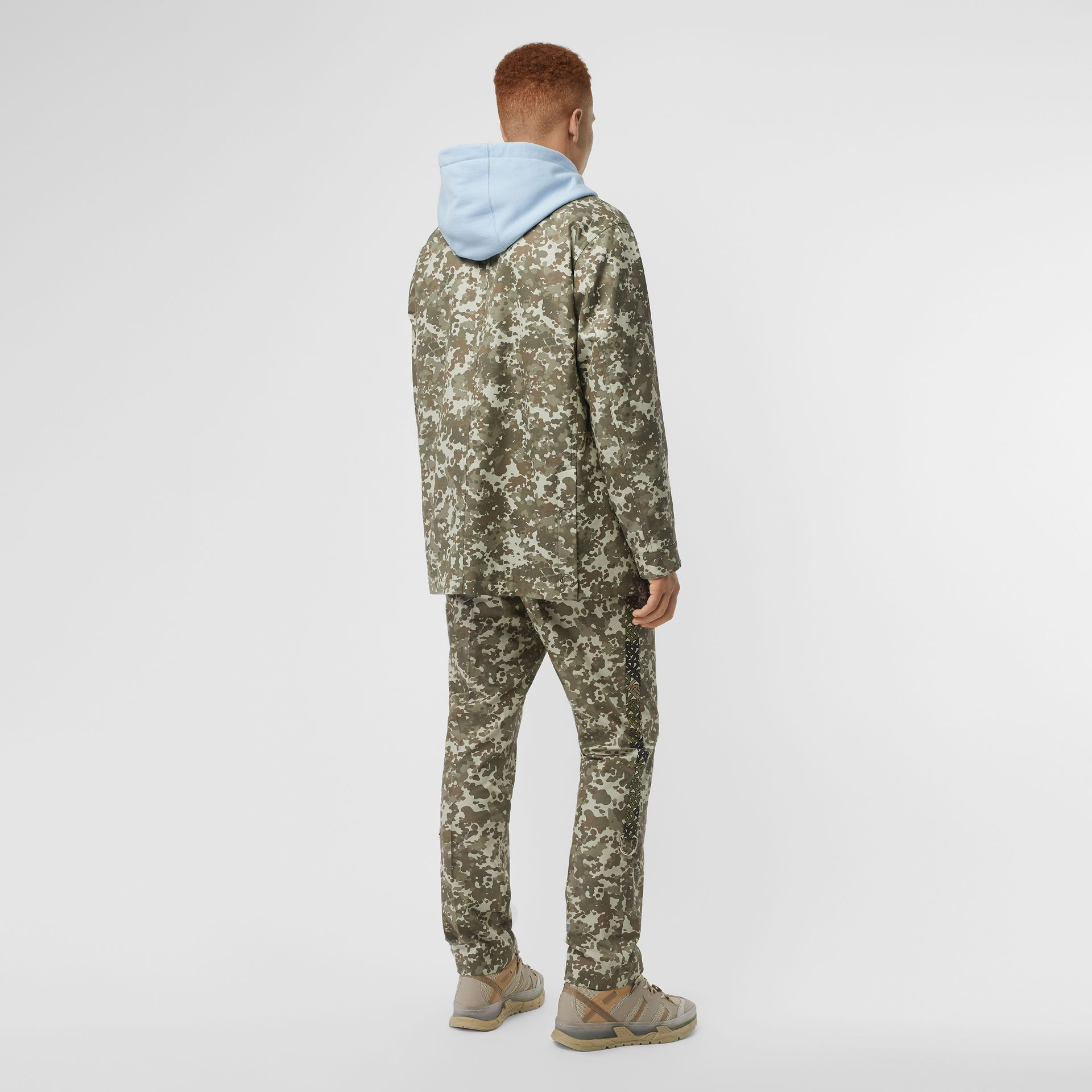 Camouflage Print Cotton Gabardine Jacket in Khaki Green - Men | Burberry - gallery image 2