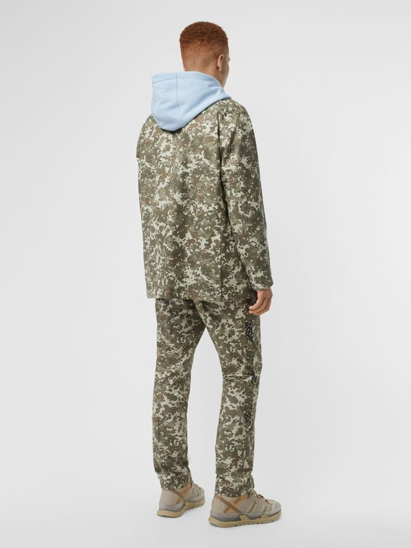Camouflage Print Cotton Gabardine Jacket in Khaki Green - Men | Burberry - cell image 2
