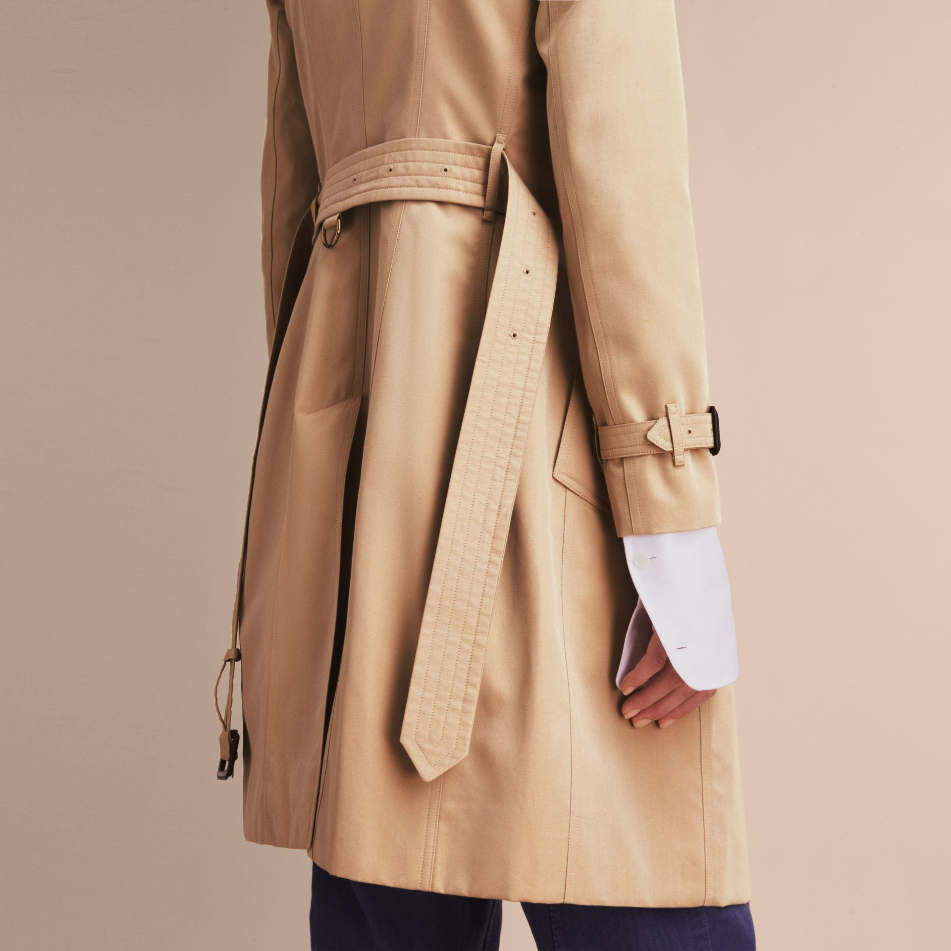 Honey The Chelsea – Long Heritage Trench Coat Honey - gallery image 7
