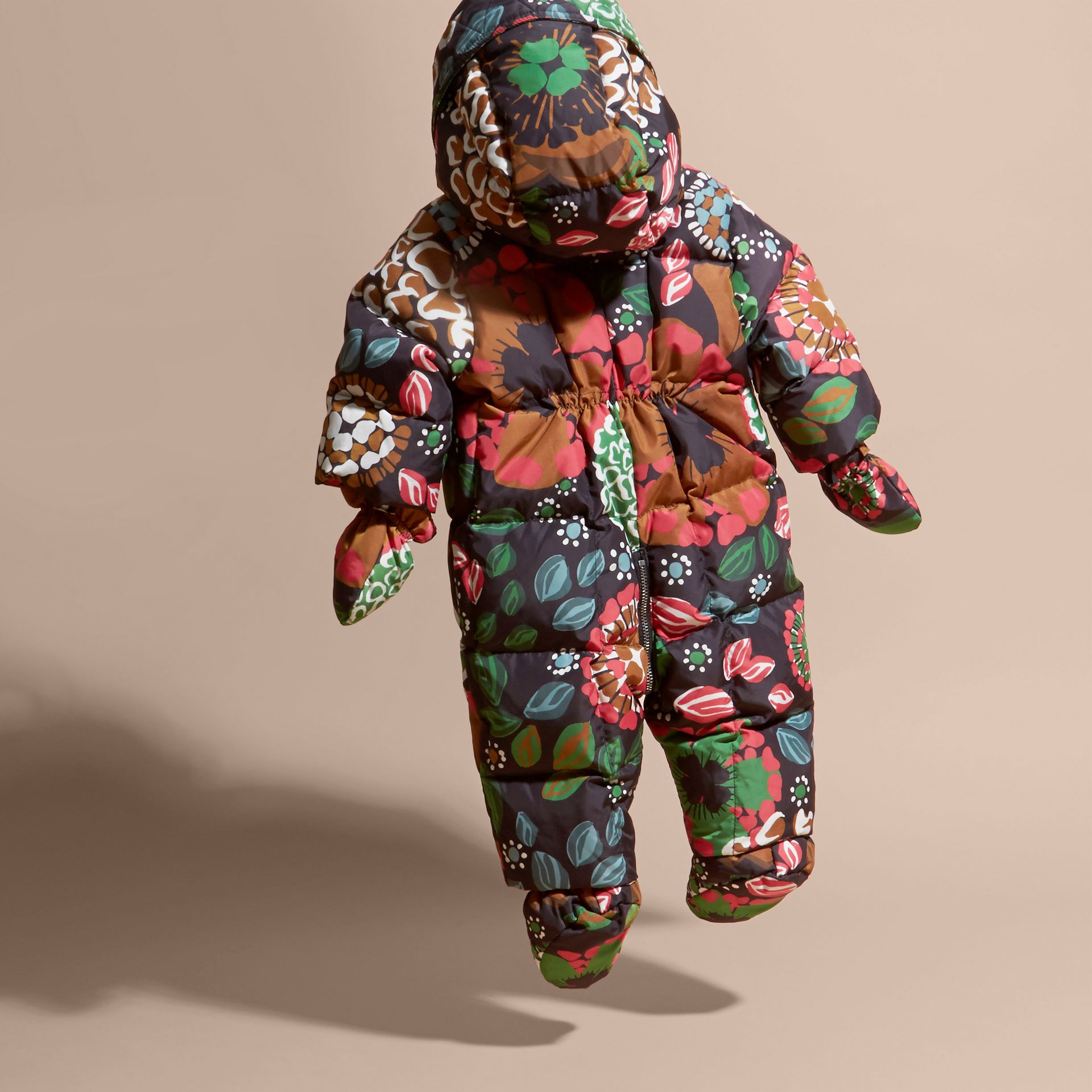 Sage green Floral Print Down-filled Puffer Suit - gallery image 4