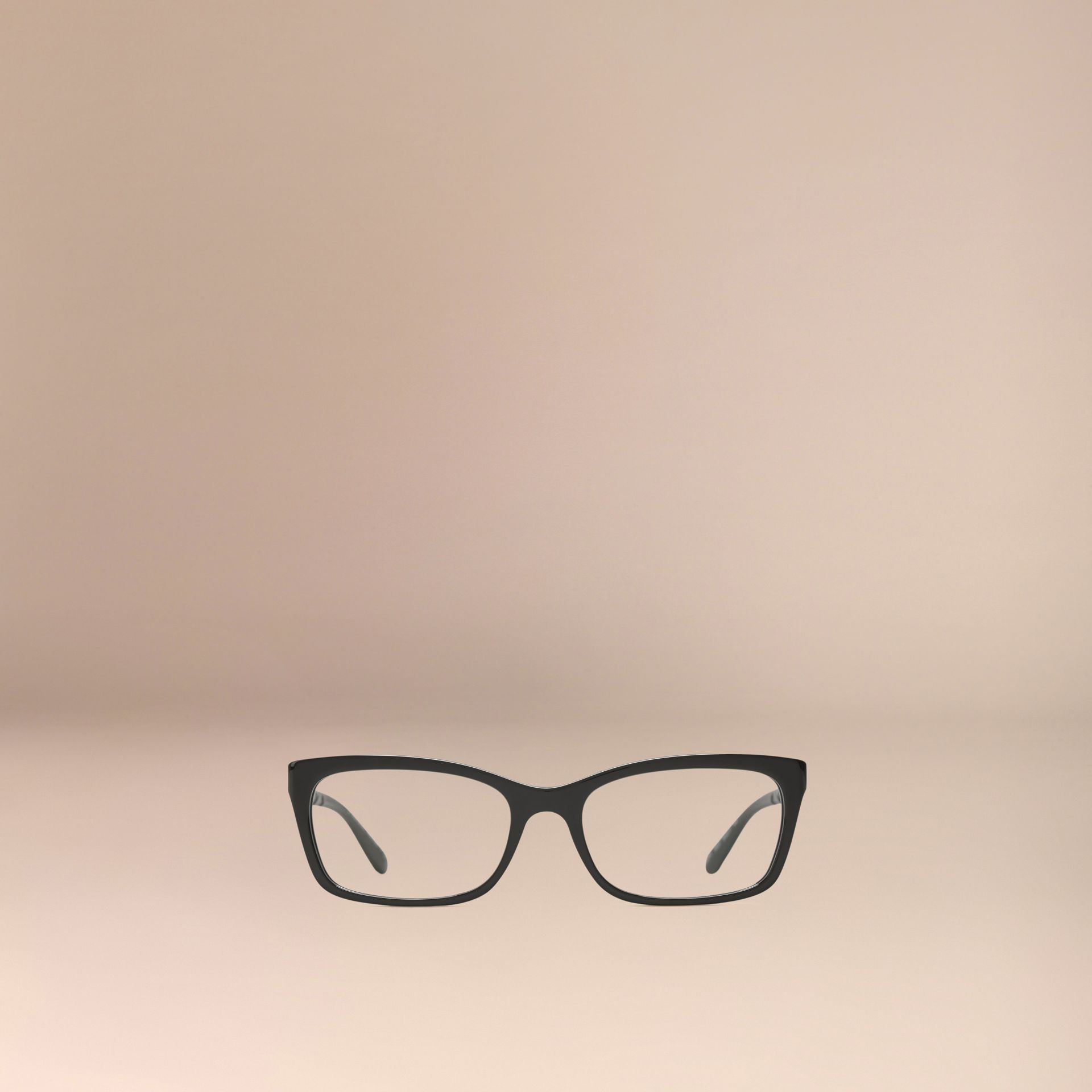 Check Detail Rectangular Optical Frames Black - gallery image 3