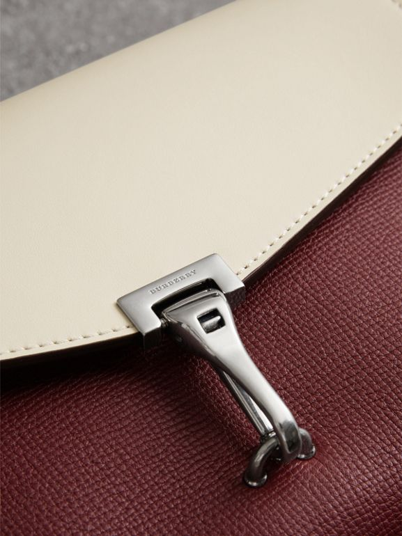Two-tone Leather Crossbody Bag in Mahogany Red/limestone - Women | Burberry - cell image 1
