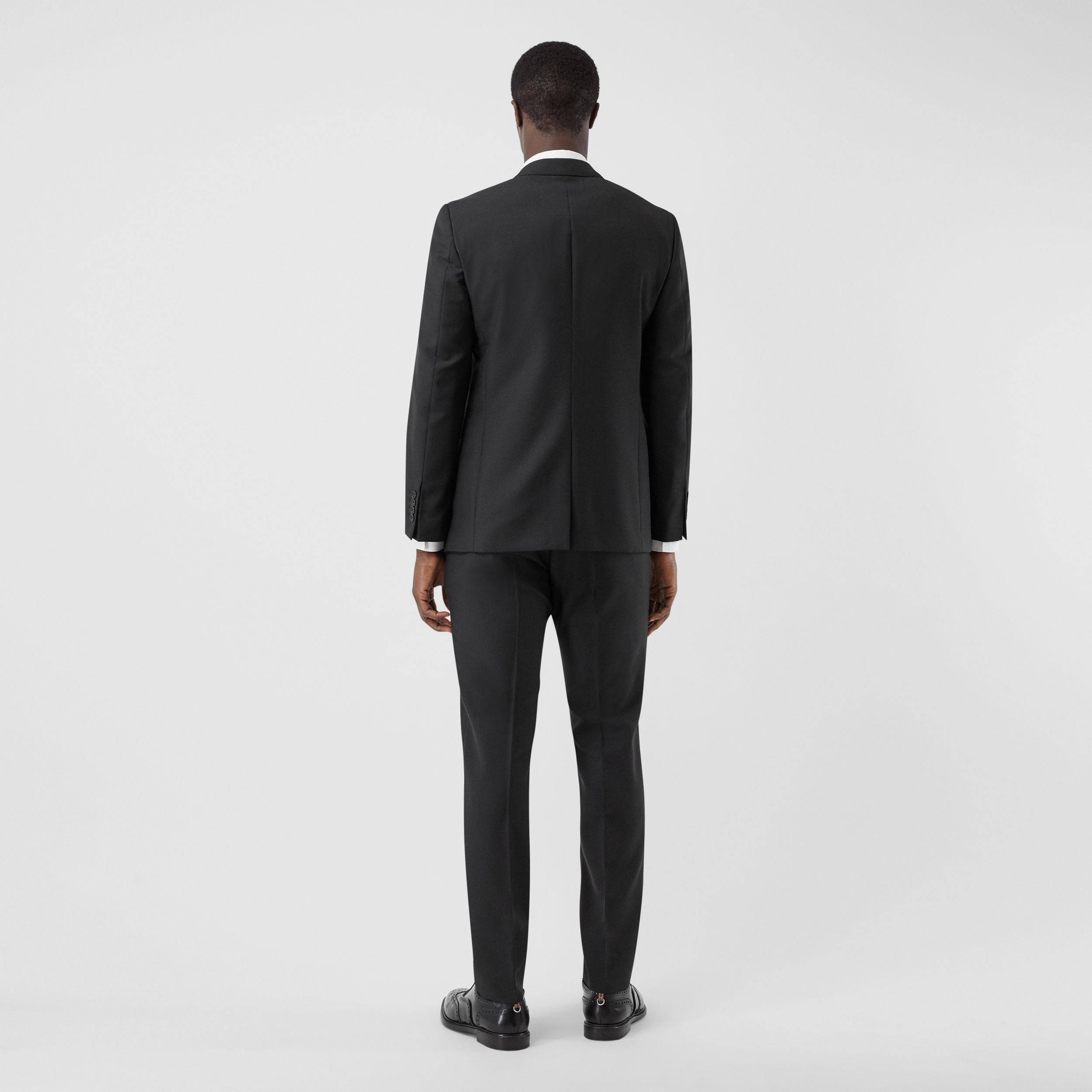 Slim Fit Wool Mohair Suit in Black - Men | Burberry United States - 3