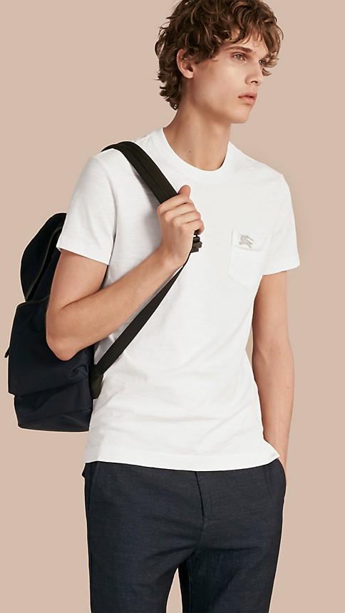 White Slub Jersey Double Dyed T-Shirt White - Image 1