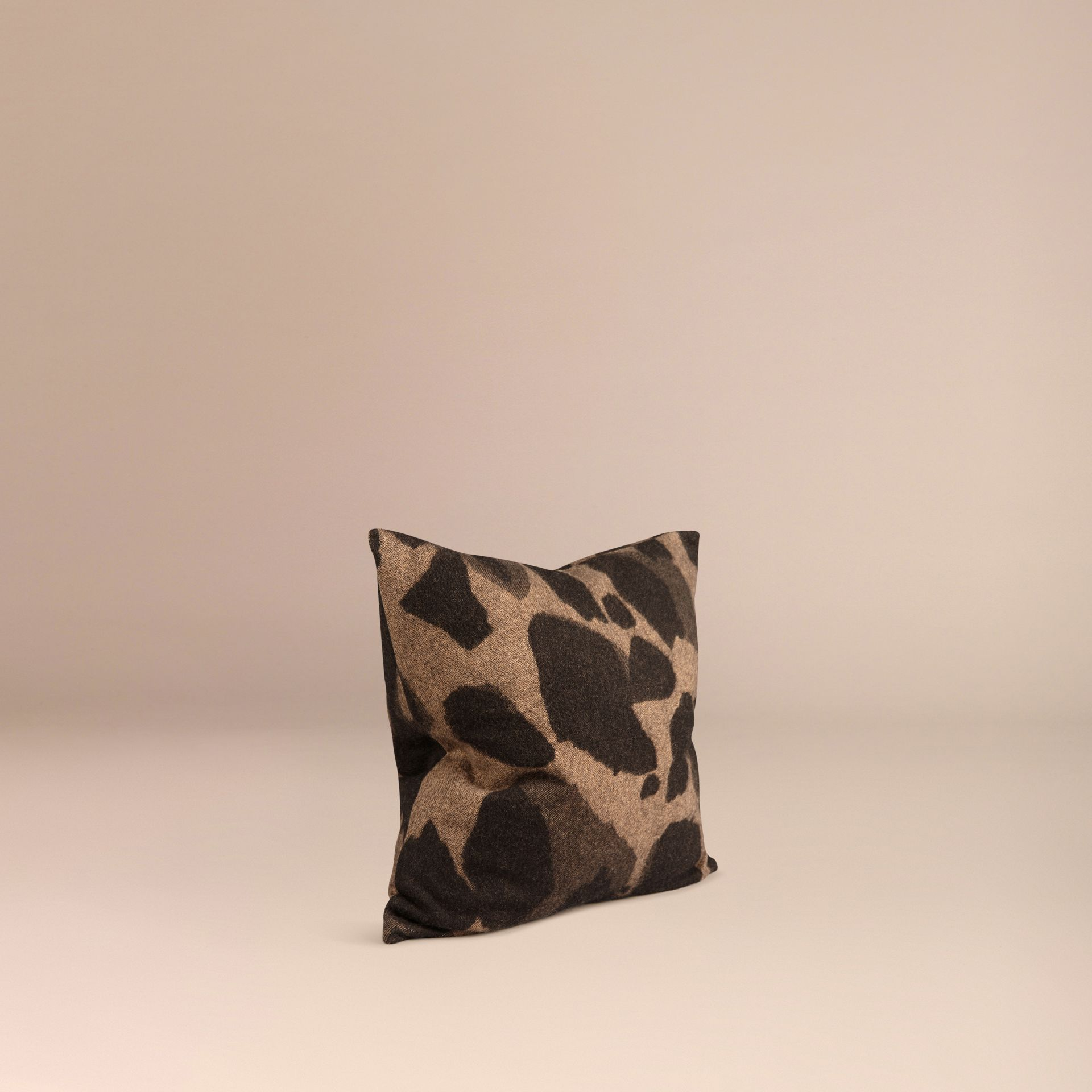 Camel Animal Jacquard Cashmere Cushion Cover Camel - gallery image 3