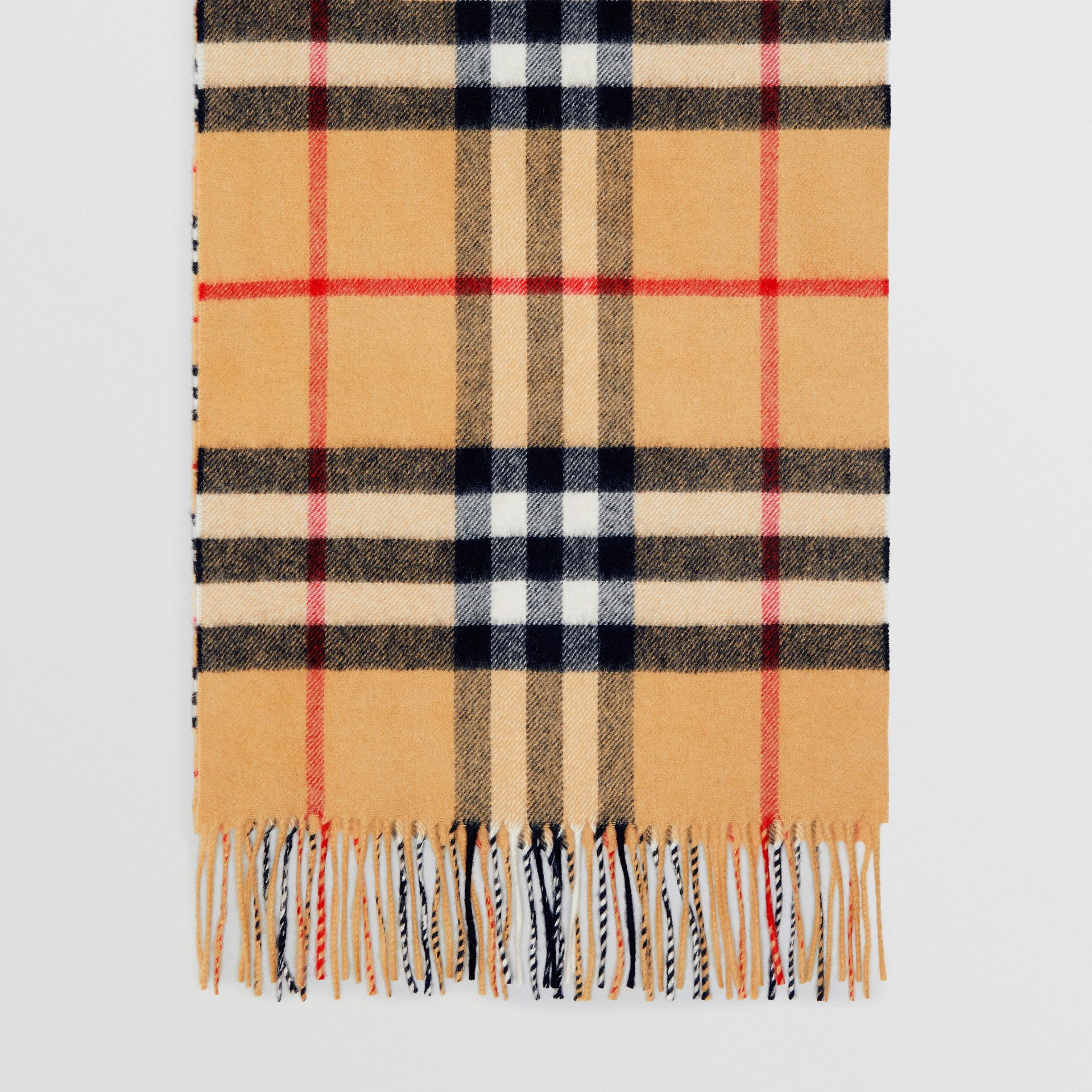 Gosha x Burberry Check Cashmere Double Scarf in Antique Yellow | Burberry - gallery image 0