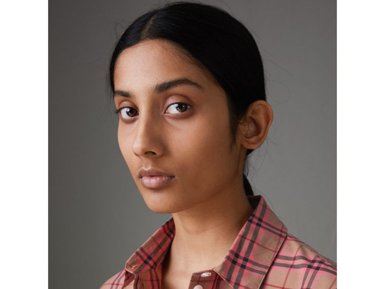 Check Cotton Shirt in Pomegranate Pink - Women | Burberry - cell image 1
