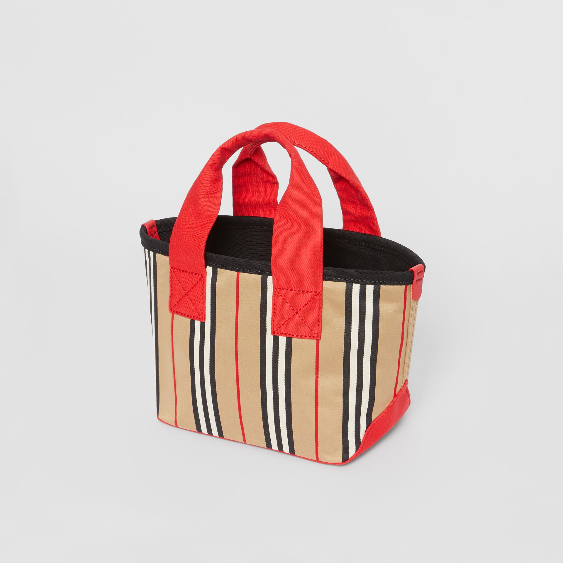 Icon Stripe Cotton Tote Bag in Honey - Children | Burberry - gallery image 2