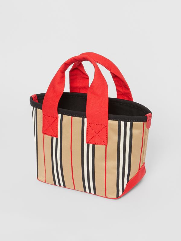 Icon Stripe Cotton Tote Bag in Honey - Children | Burberry - cell image 2
