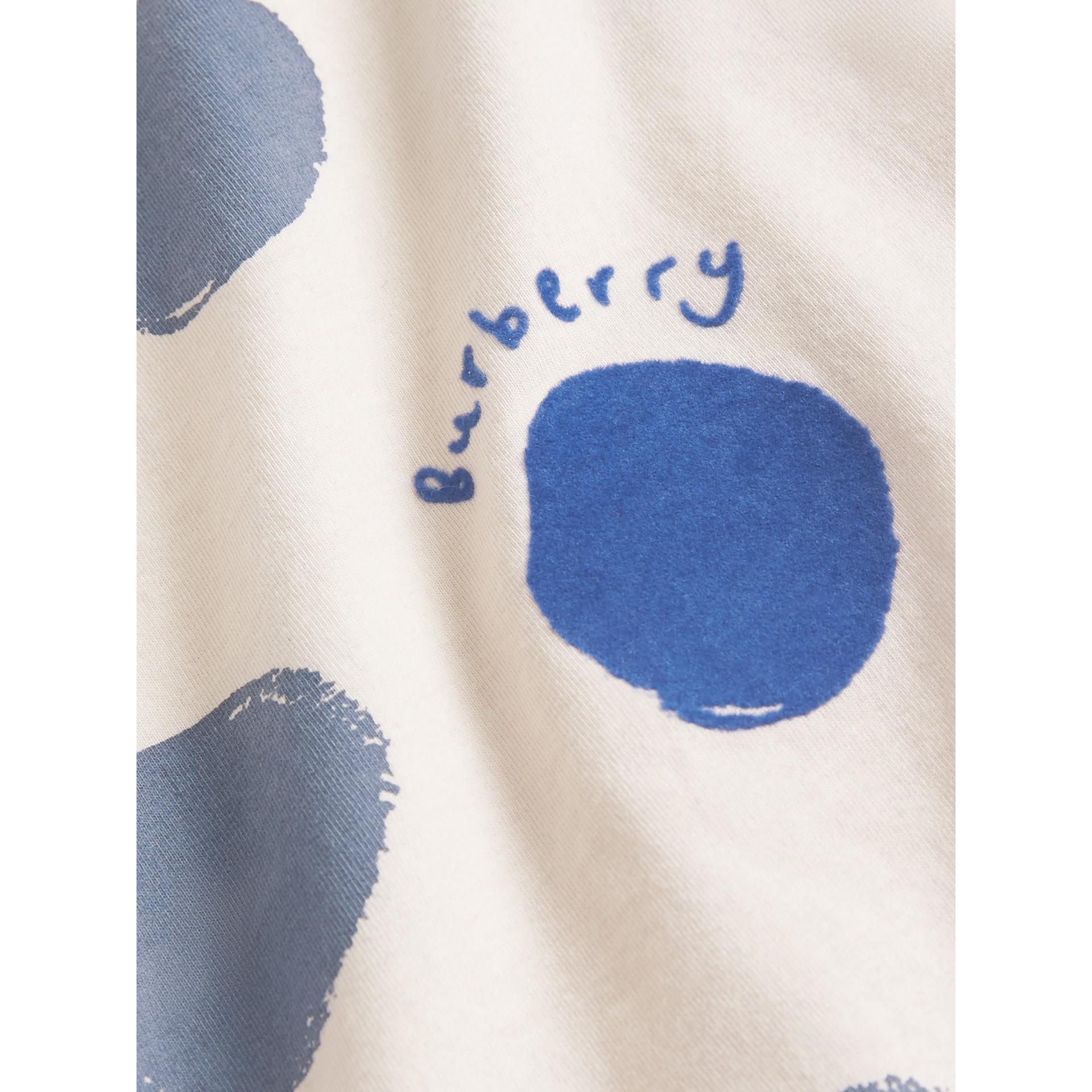 Coffret cadeau deux pièces pour bébé en jersey de coton à imprimé à pois graphique (Bleu Toile) - Enfant | Burberry Canada - photo de la galerie 1