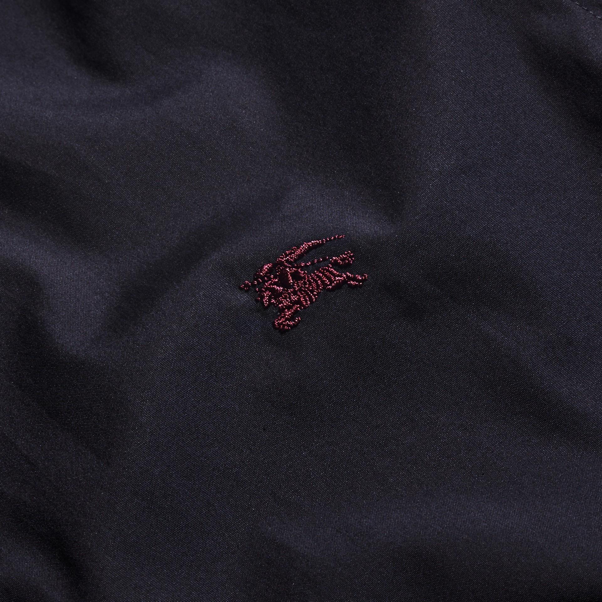 Navy Camicia in cotone stretch con dettagli con motivo check Navy - immagine della galleria 2