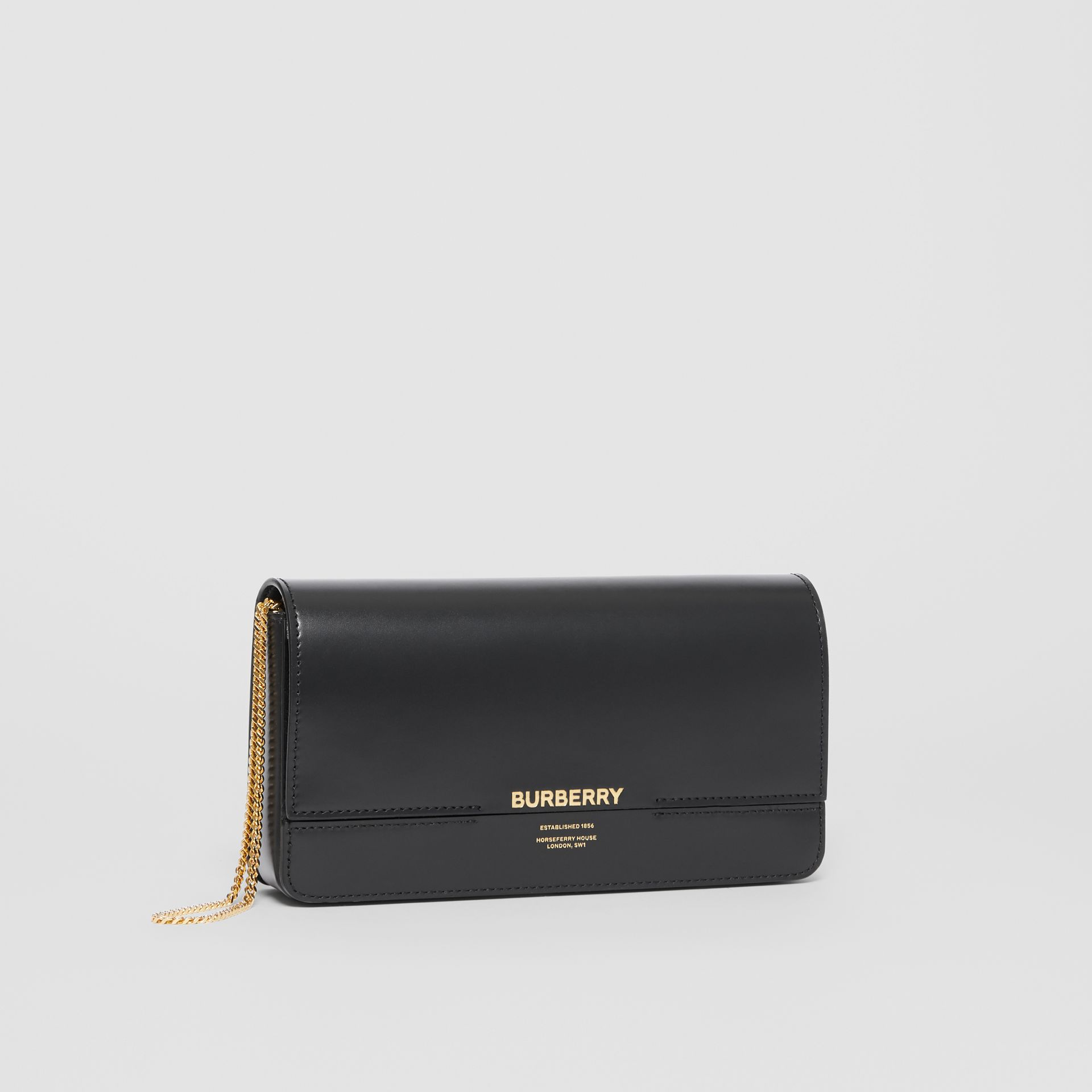 Leather Grace Clutch in Black - Women | Burberry - gallery image 4