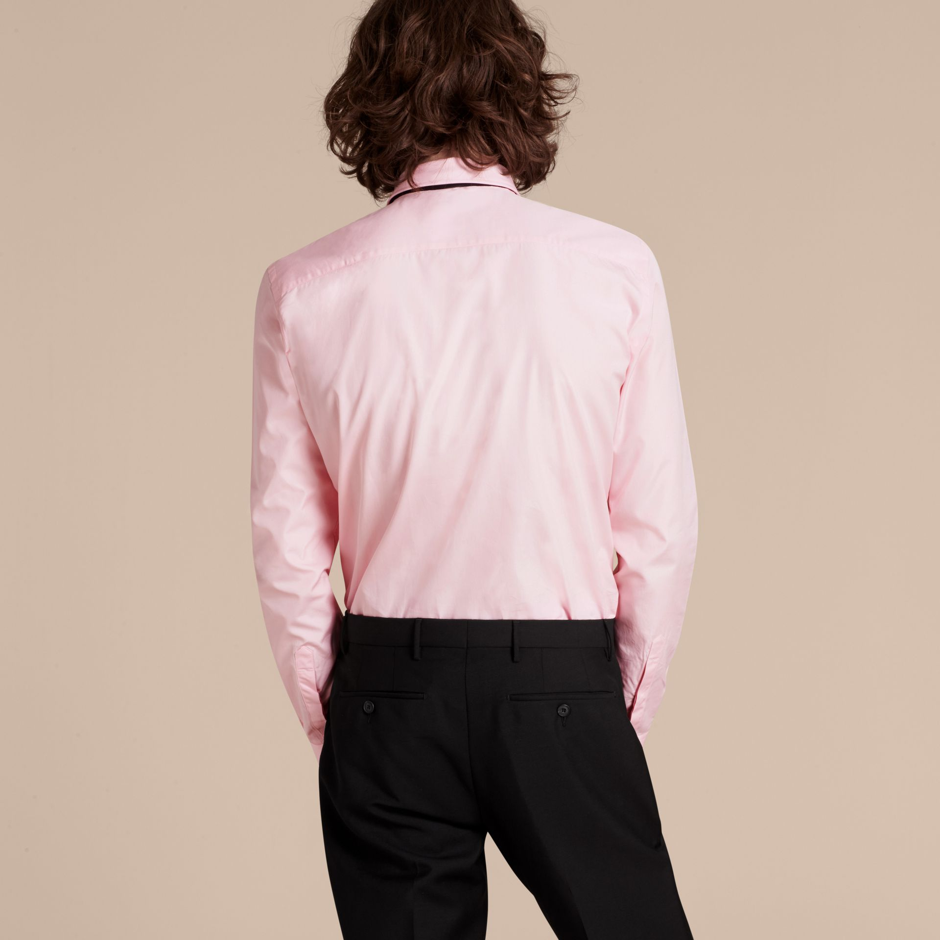 City pink Slim Fit Cotton Poplin Shirt - gallery image 3