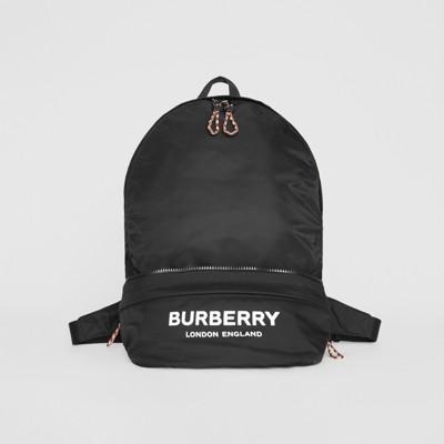 logo-print-convertible-bum-bag by burberry