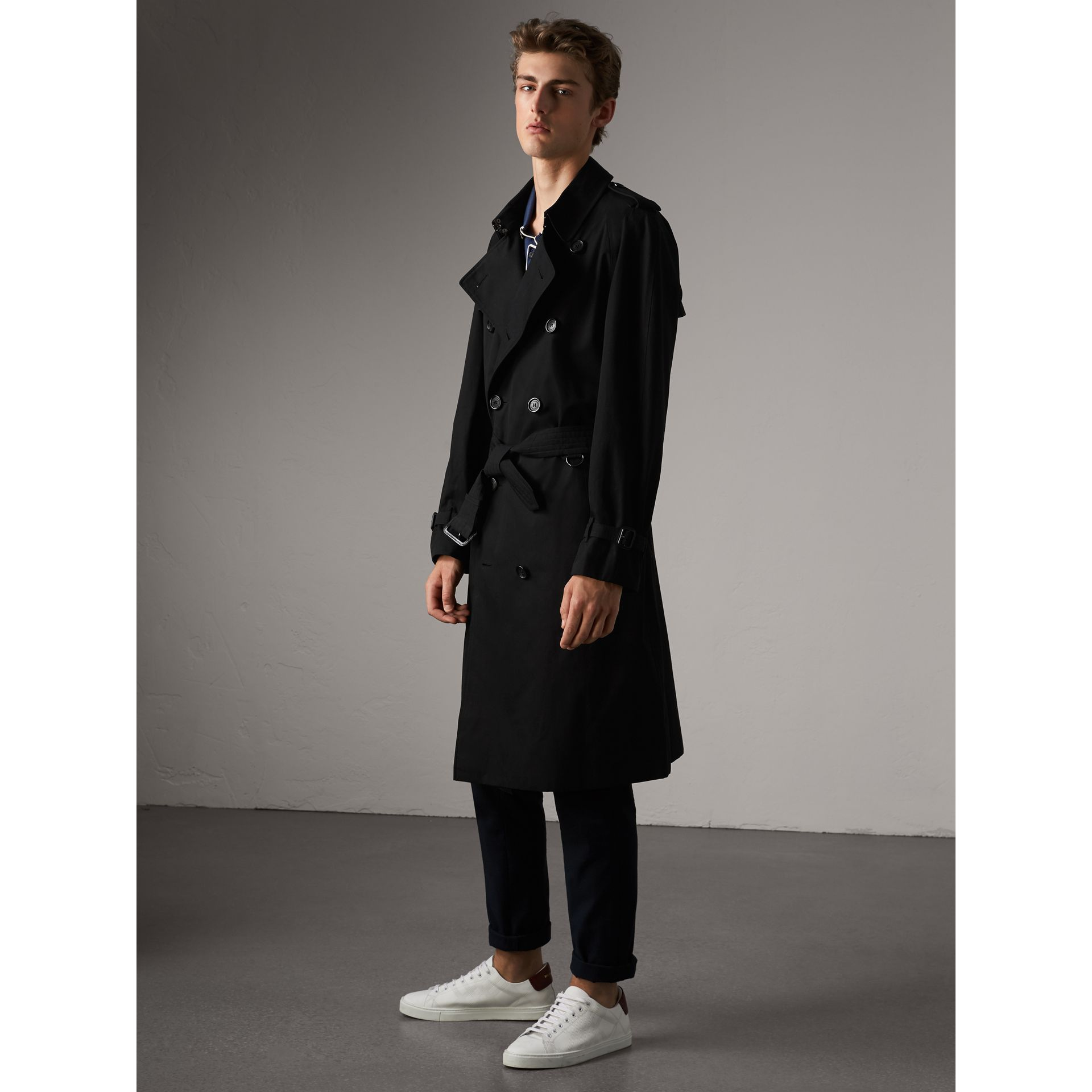 The Westminster – Extra-long Trench Coat in Black - Men | Burberry Australia - gallery image 7