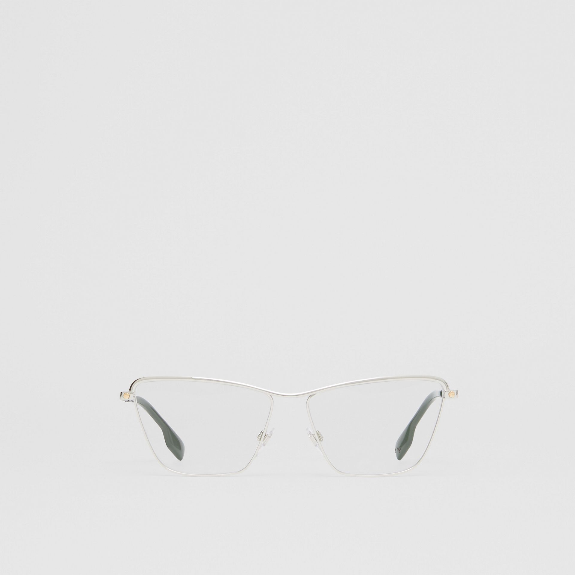 Rectangular Optical Frames in Silver - Women | Burberry United Kingdom - gallery image 0