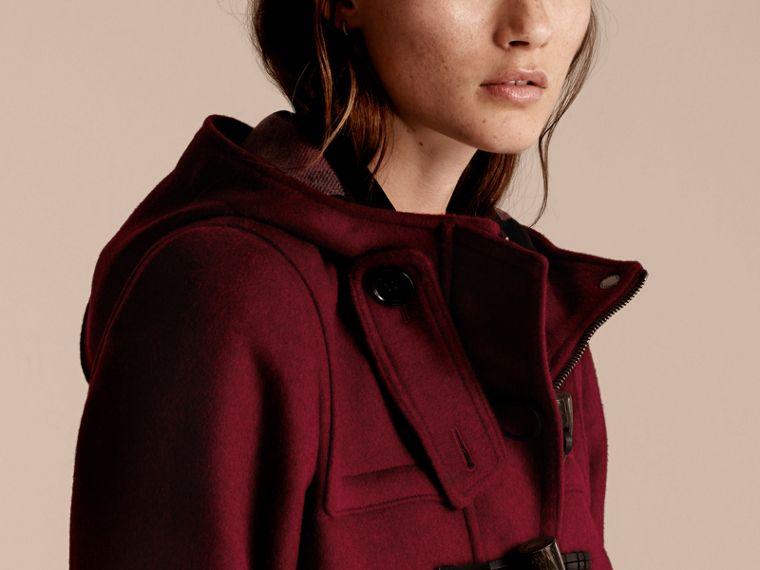 Dark plum Wool Duffle Coat - cell image 4