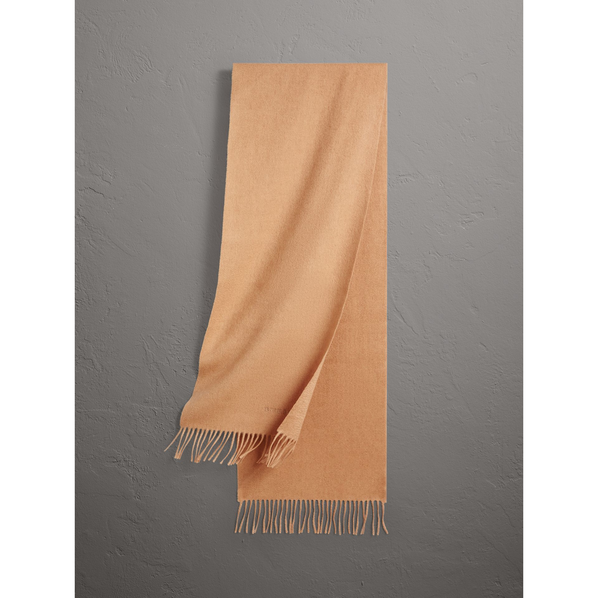 The Classic Cashmere Scarf in Camel | Burberry United Kingdom - gallery image 0