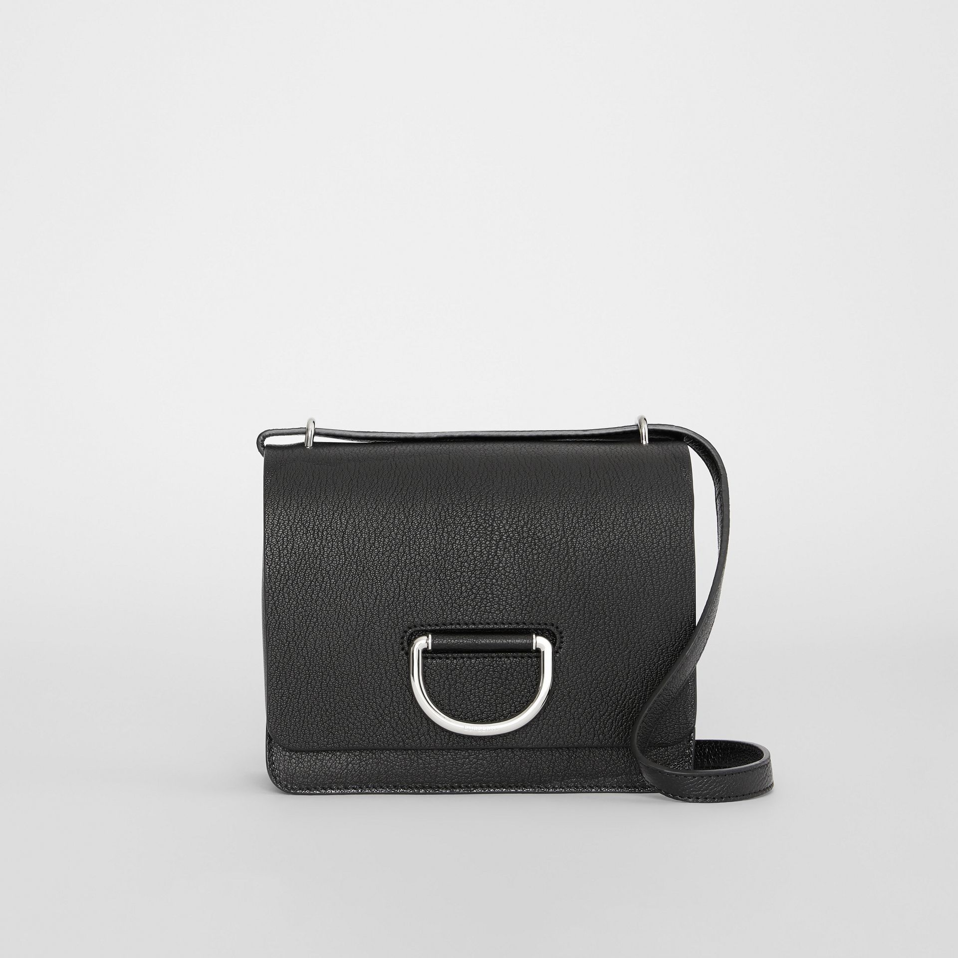 The Small Leather D-ring Bag in Black - Women | Burberry United Kingdom - gallery image 0