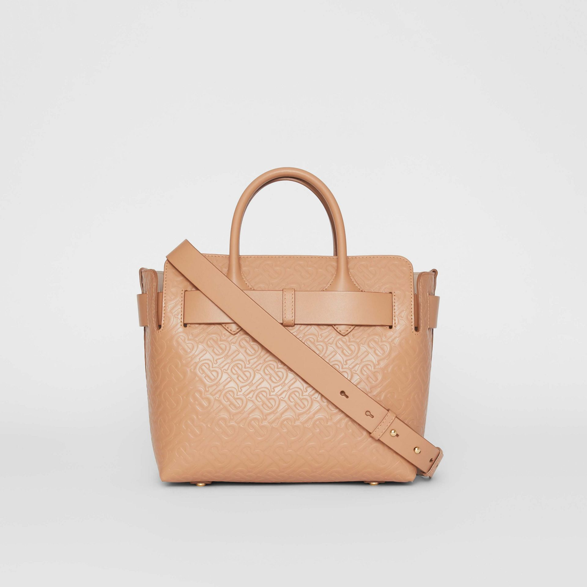 The Small Monogram Leather Triple Stud Belt Bag in Light Camel - Women | Burberry - gallery image 7