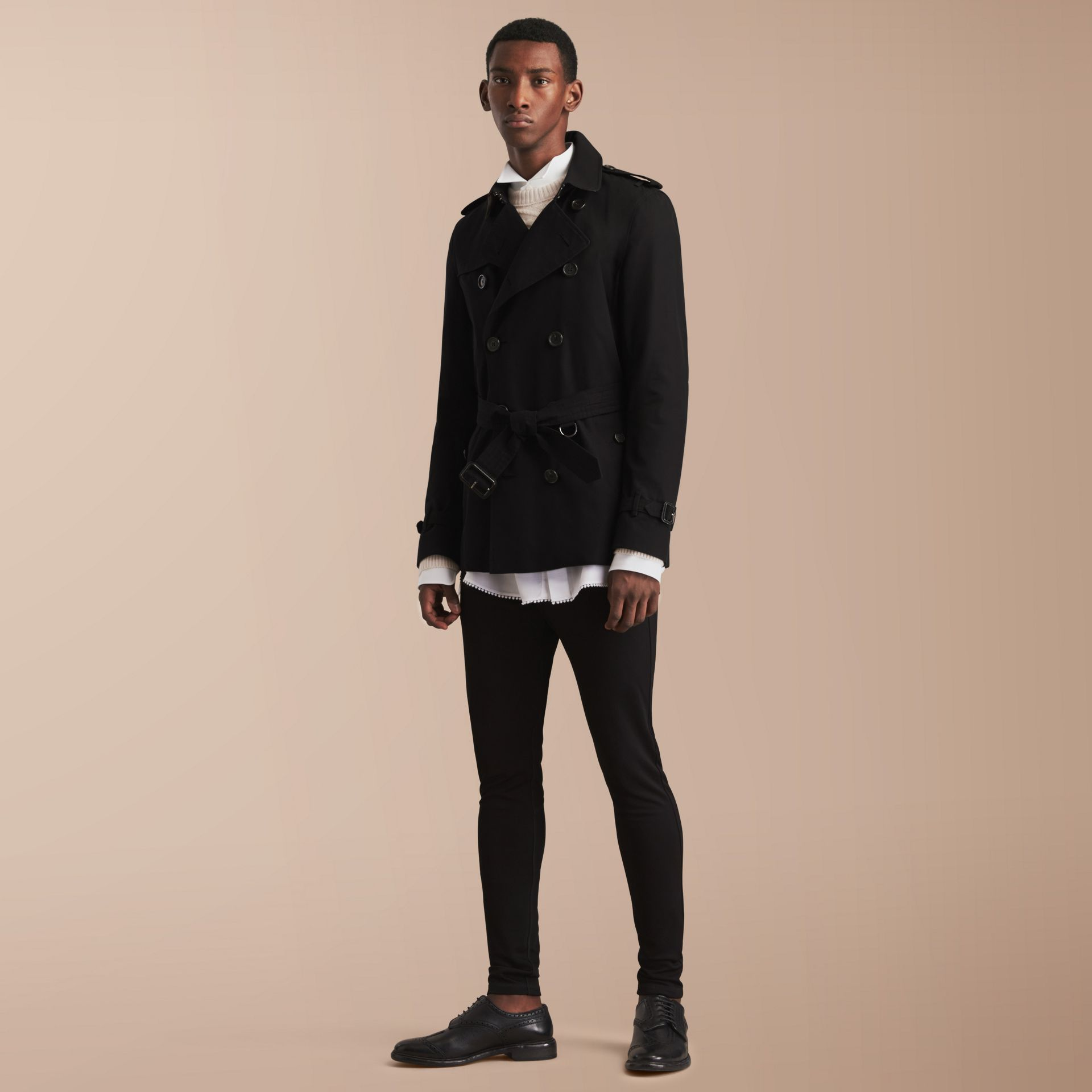 The Kensington – Short Heritage Trench Coat Black - gallery image 8
