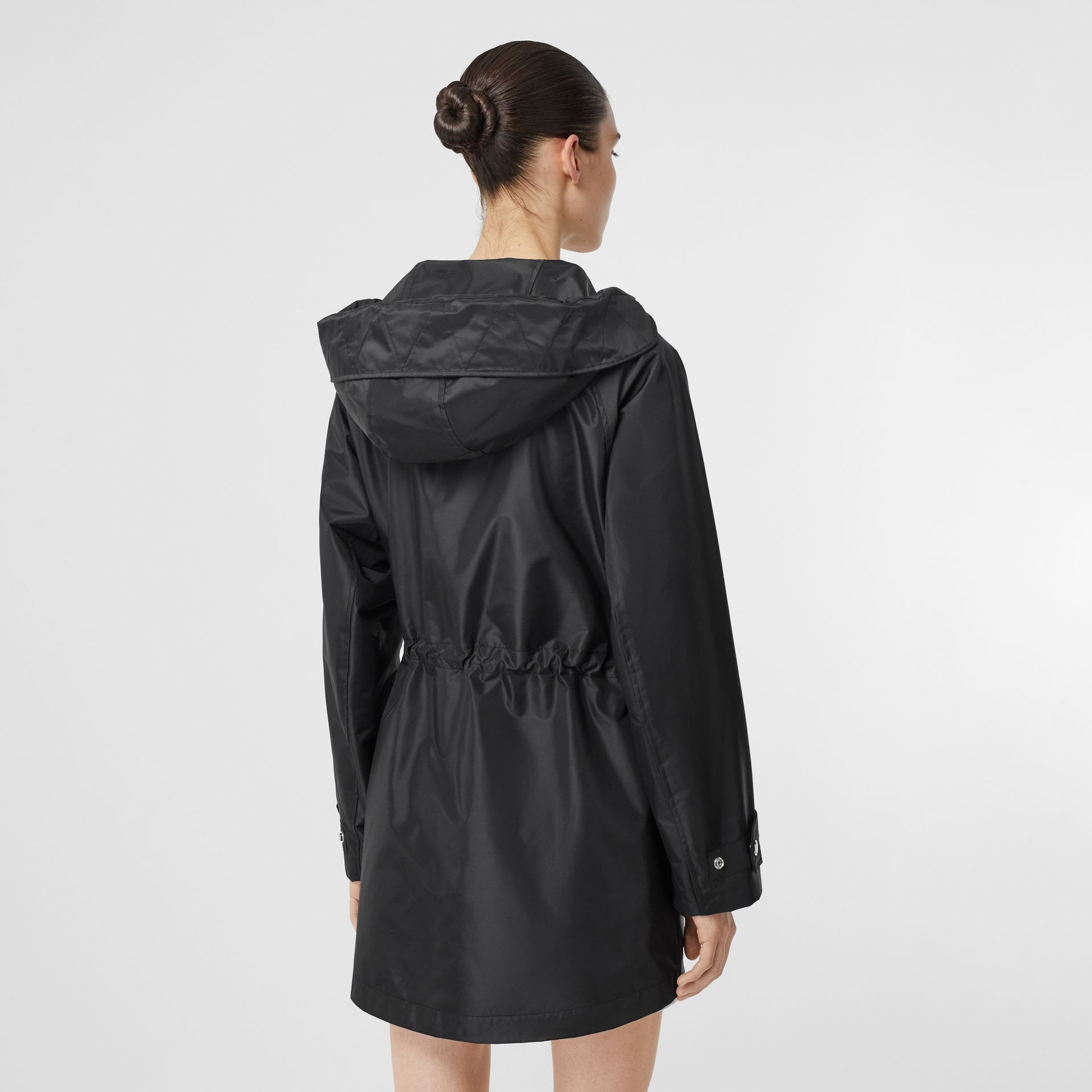 Coated Nylon Hooded Parka with Detachable Gilet in Black - Women | Burberry United States - gallery image 2