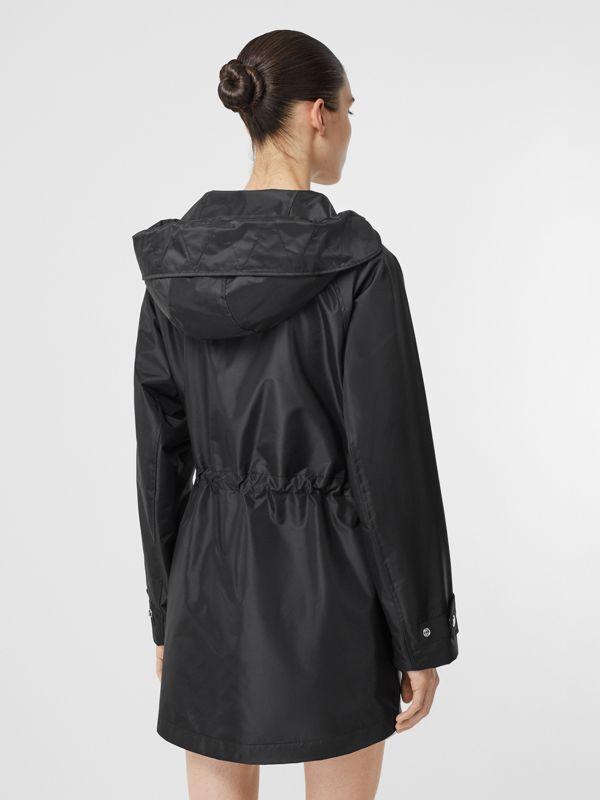 Coated Nylon Hooded Parka with Detachable Gilet in Black - Women | Burberry United States - cell image 2